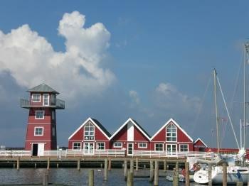 Blick auf den Hafen Bagenkop.