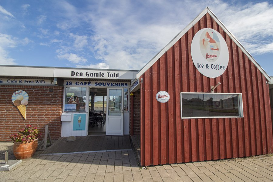 Das Cafe von Andrea und Rainer Vogt im Hafen von Bagenkop