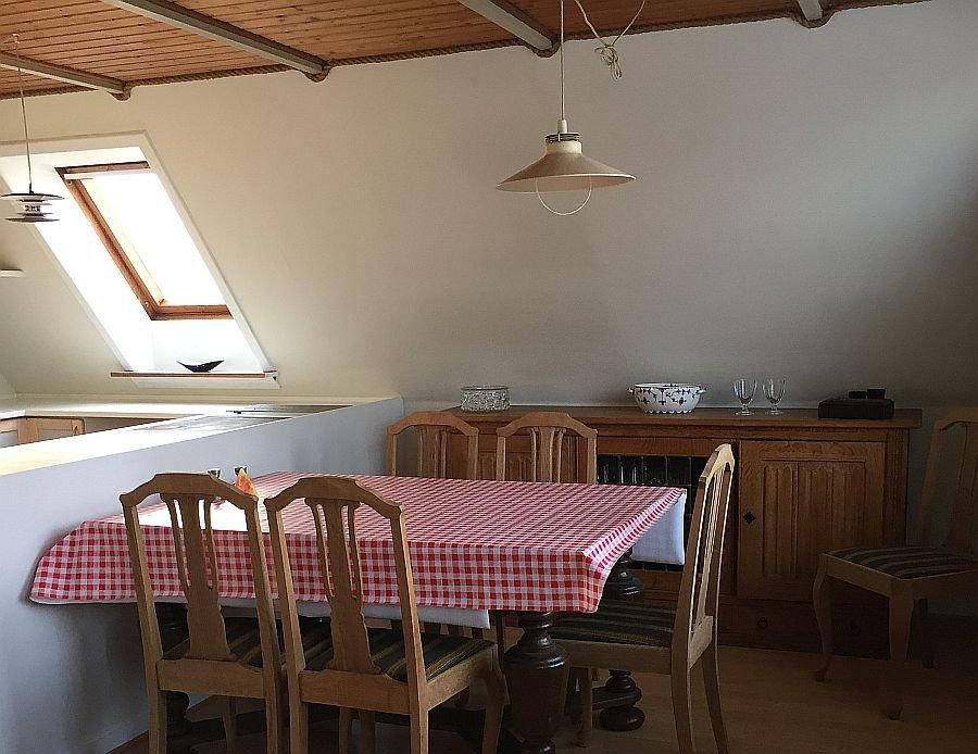Sitzgruppe in der Küche.