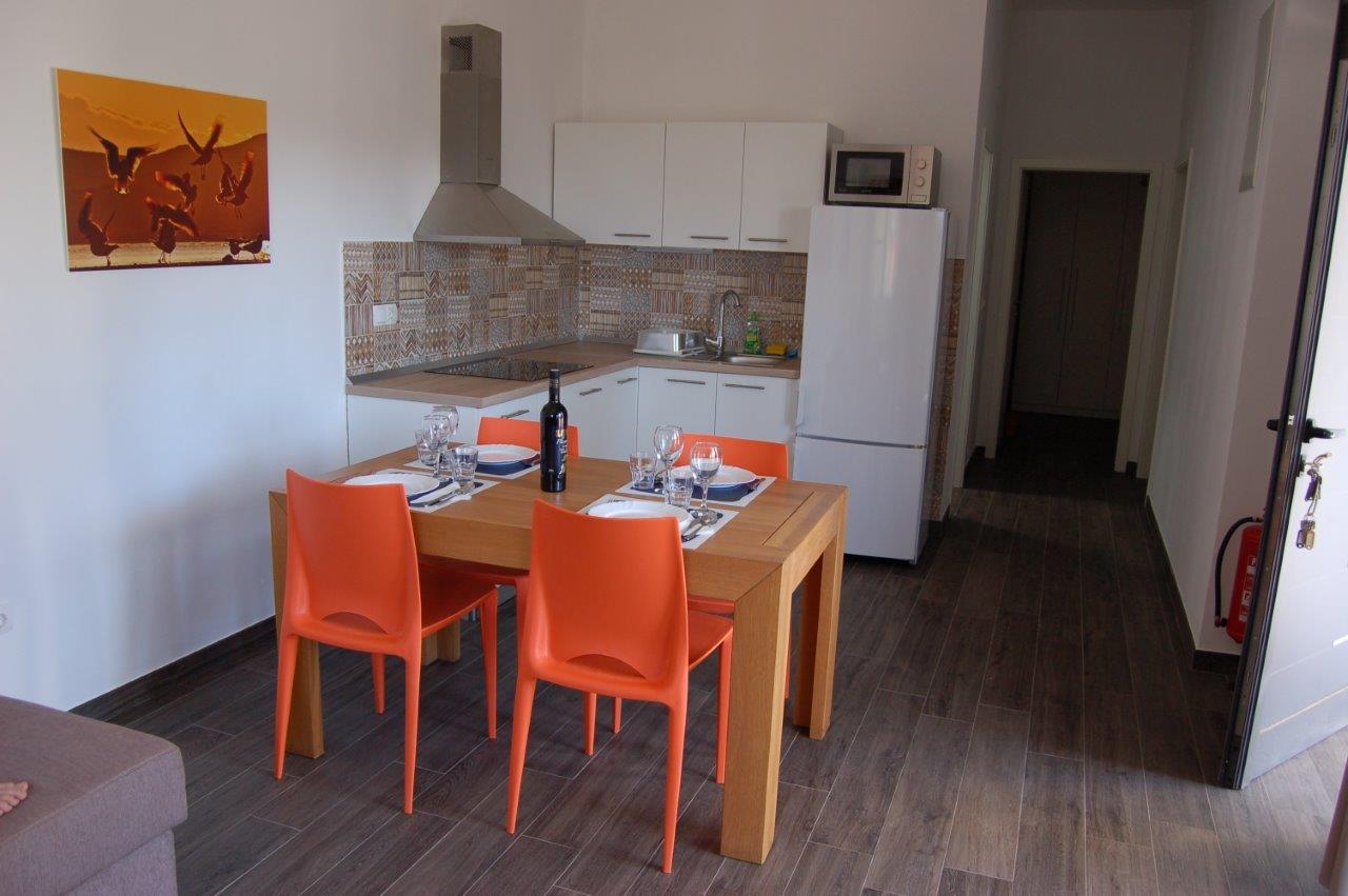Küche in der Suite Typ D.
