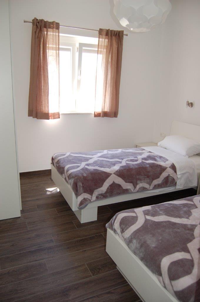 Schlafzimmer in der Suite Typ D.