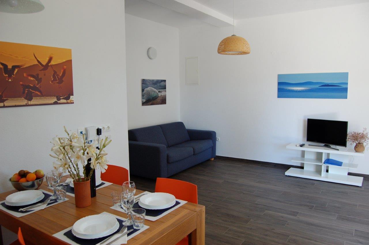 Wohnbereich in der Suite Typ D.