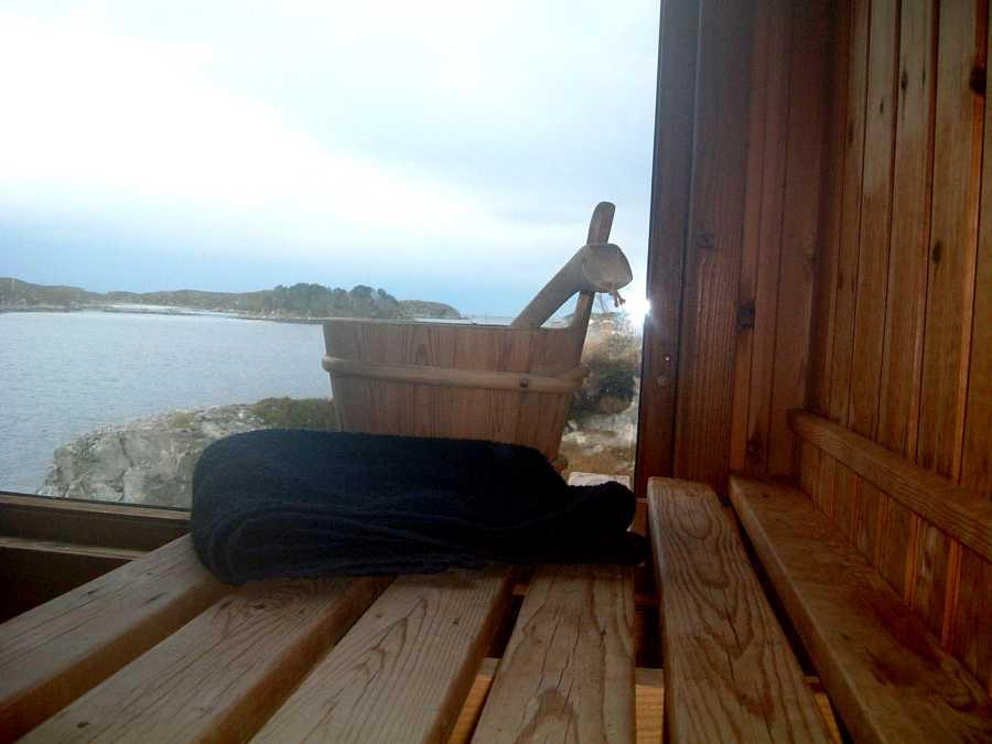 Die Hauseigene Sauna mit Meerblick