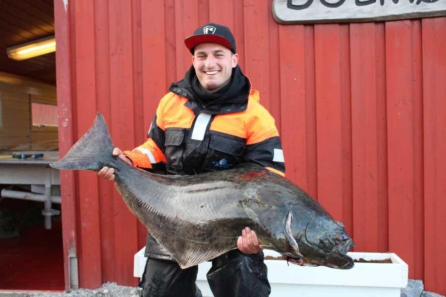 Steve Seidel mit 28,5kg Heilbutt