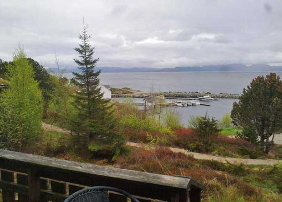 Die herrliche Aussicht von der Terrasse