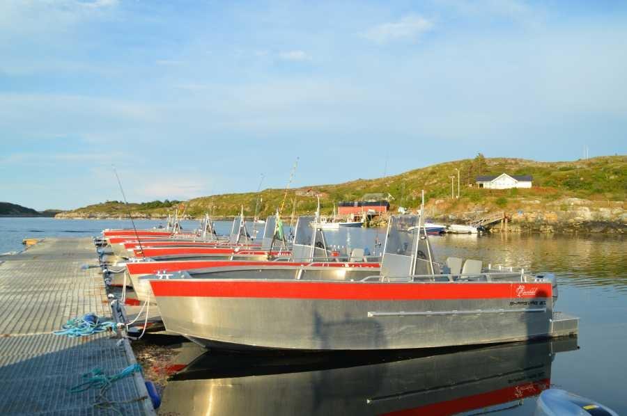 Die beachtliche Boots-Flotte von Gurvikdal Havfiske