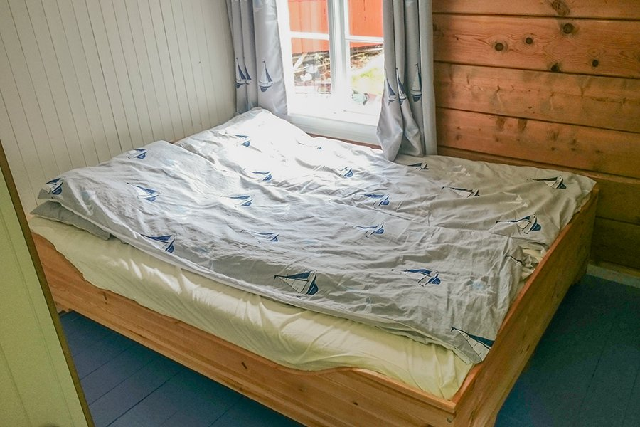 Schlafzimmer mit einem Doppelbett (Haus 1)