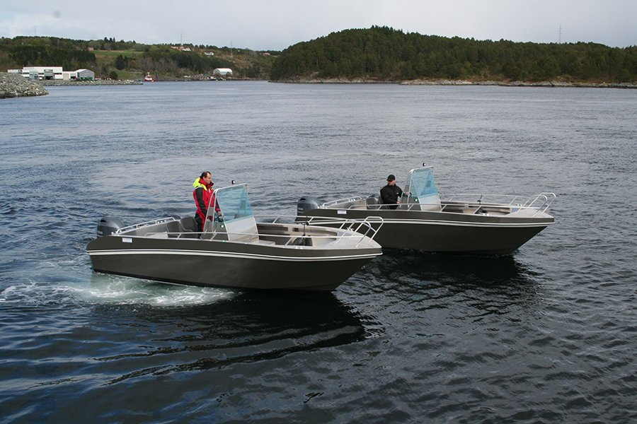 Die brandneuen 20 Fuß/100 PS-Boote