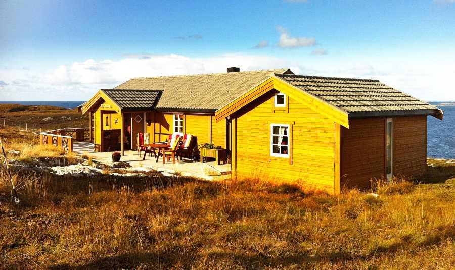Ferienhaus Hjertjøya an der Nordküste Frøyas.