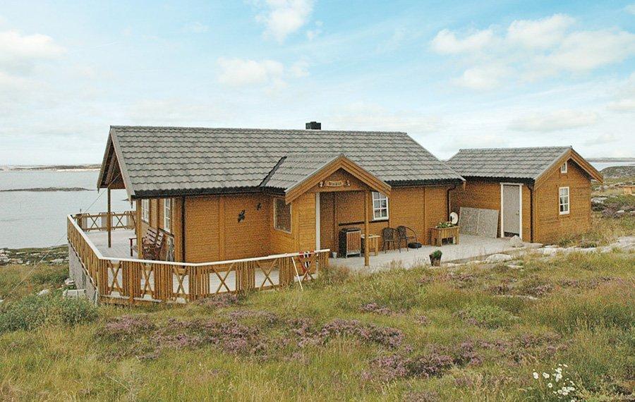 Die Lage des Hauses Hjertøya lässt keine Wünsche offen.