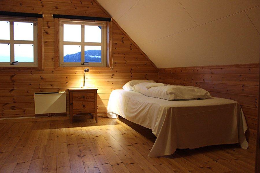 Apartment Typ C - eines der Schlafzimmer