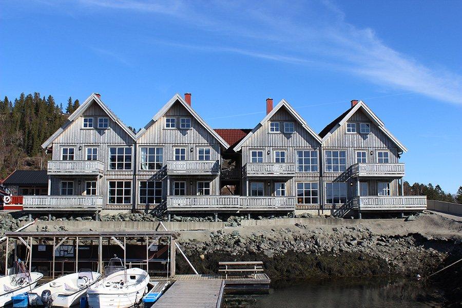 Die Apartments mit direktem Fjordblick