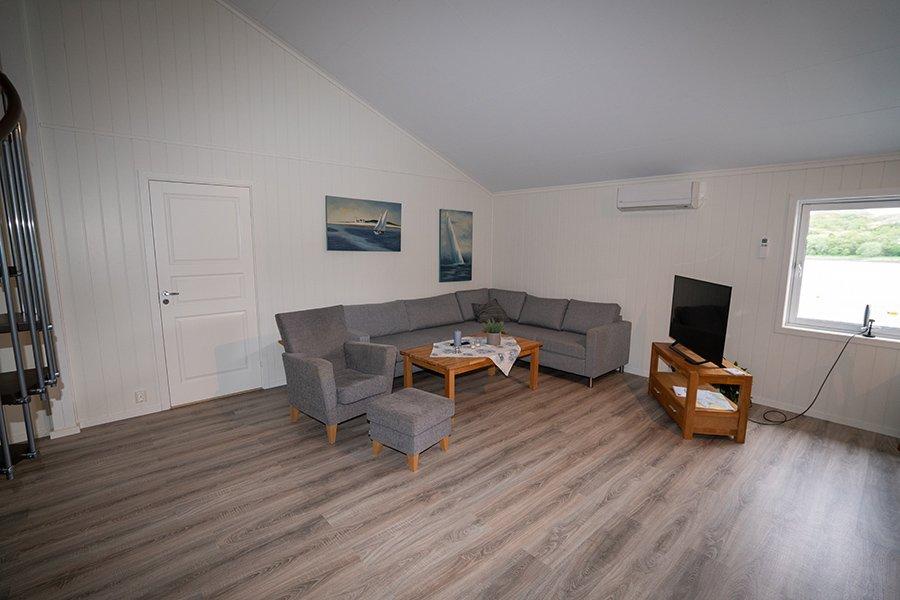 Die Couchgarnitur im Wohnzimmer