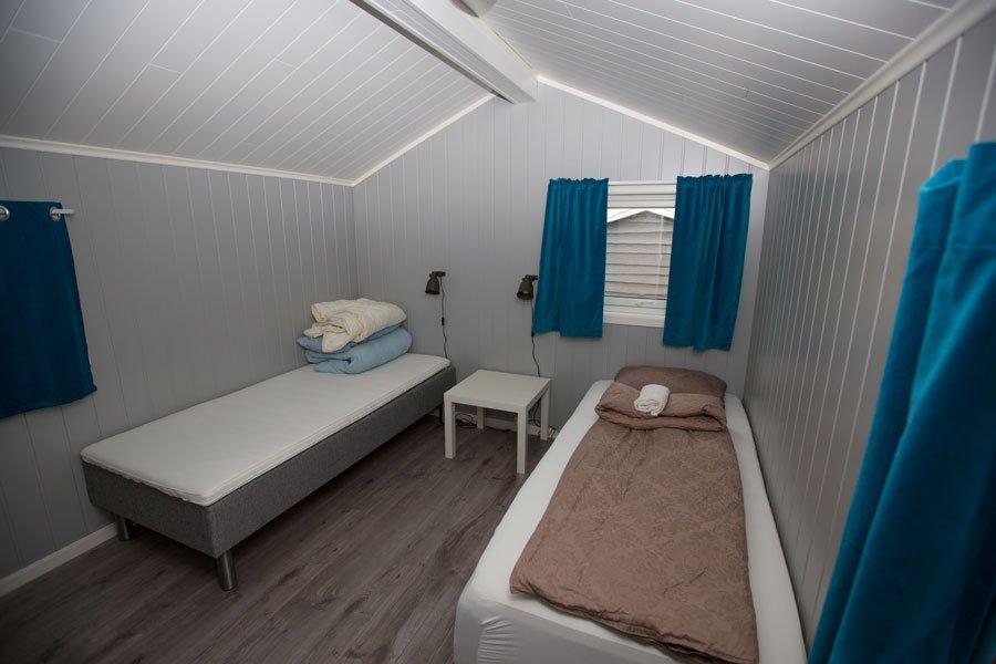Eines der Schlafzimmer in Haus 1