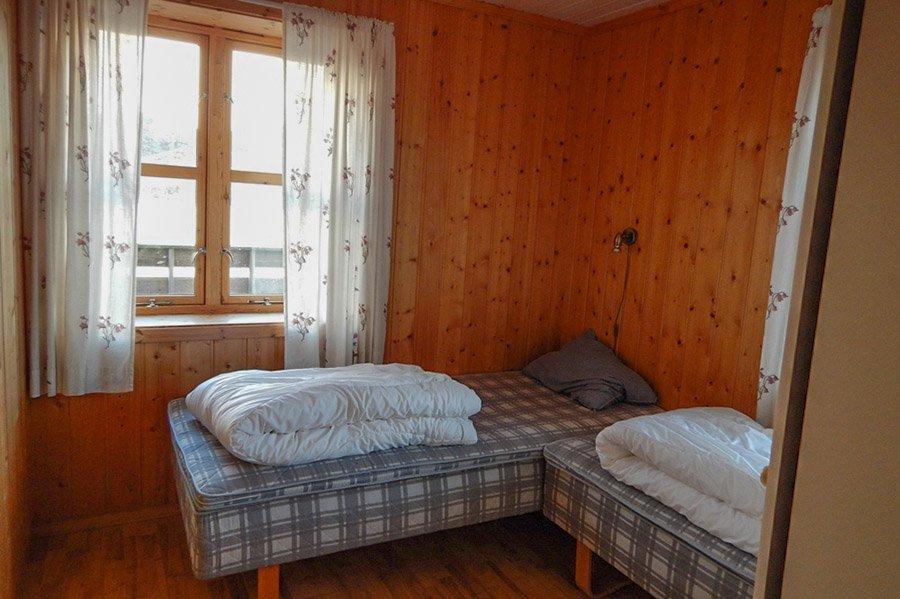 Eines der Schlafzimmer mit Einzelbetten