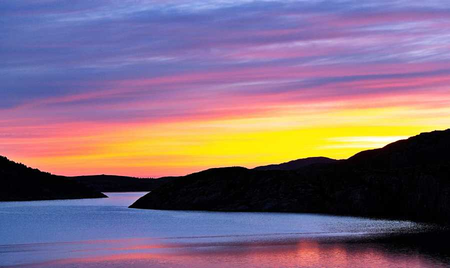 Ein Sonnenuntergang in Flatanger
