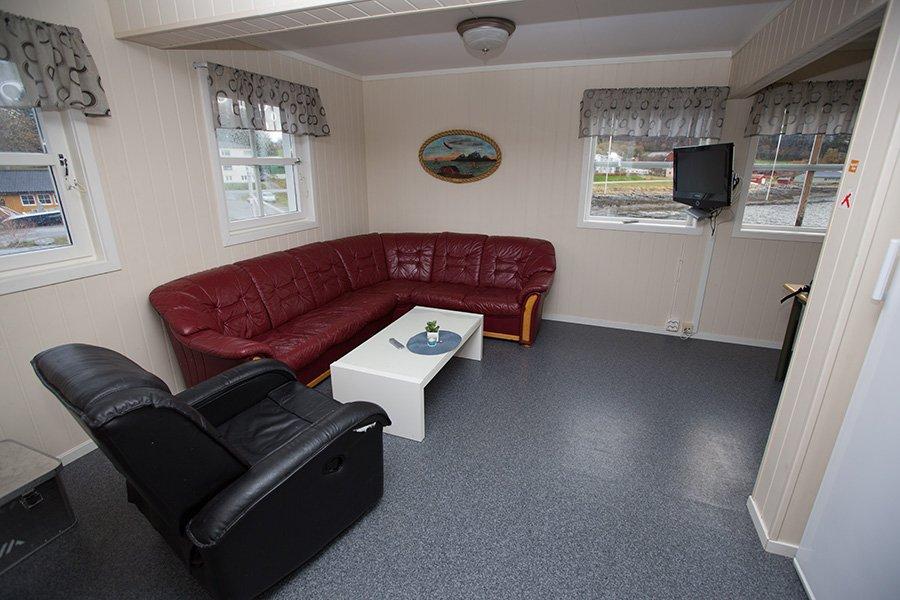 Eines der Wohnzimmer mit Sat-TV und W-LAN.