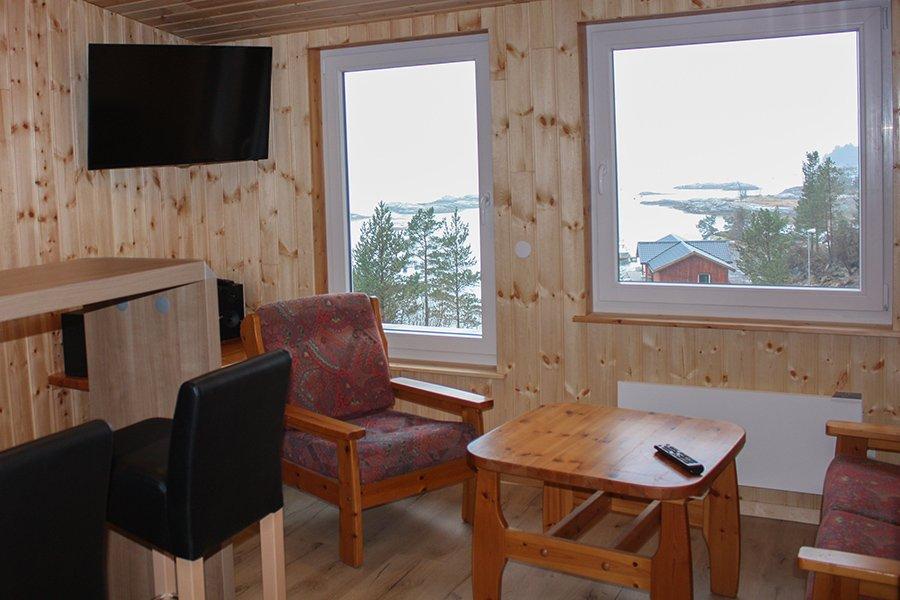 2-Personen Apartment Wohnzimmer
