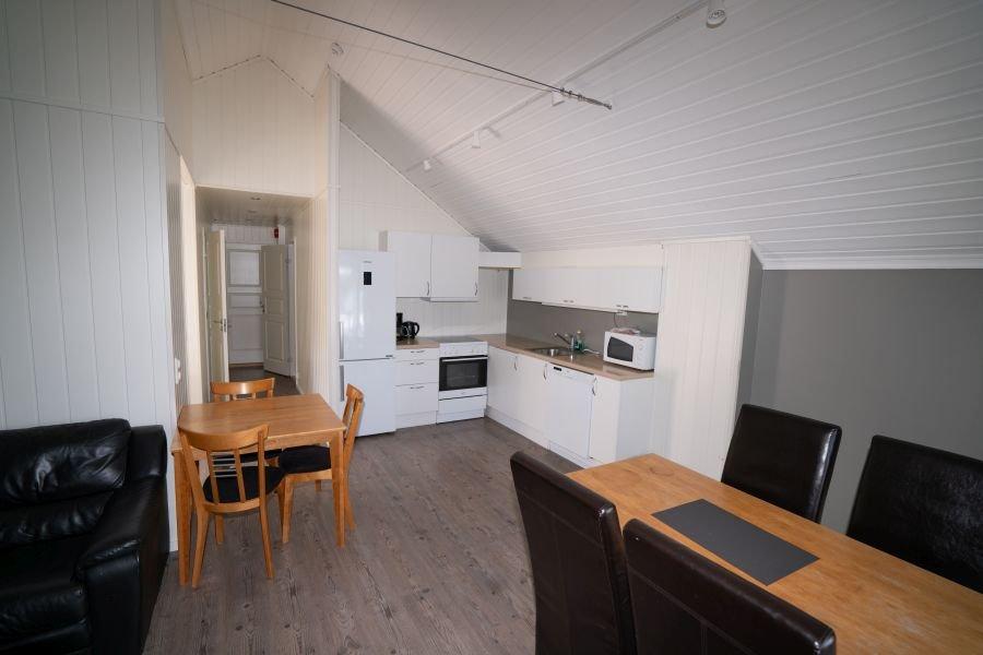 Wohnbereich/Küche Apartment Sundan.