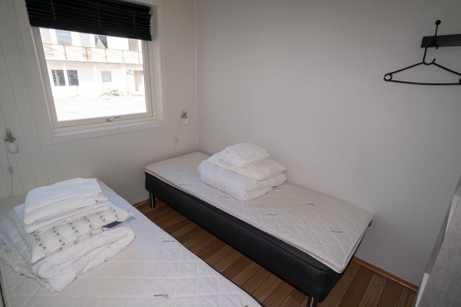 Eines der 3 Schlafzimmer in Apartment Oksebåsen .