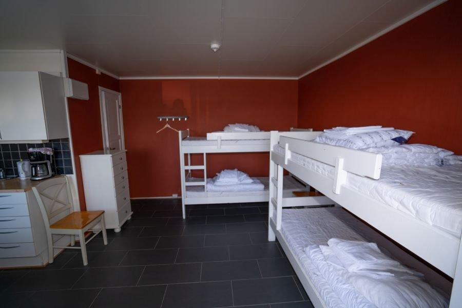 Wohn- Schlafbereich in Apartment Oteren.
