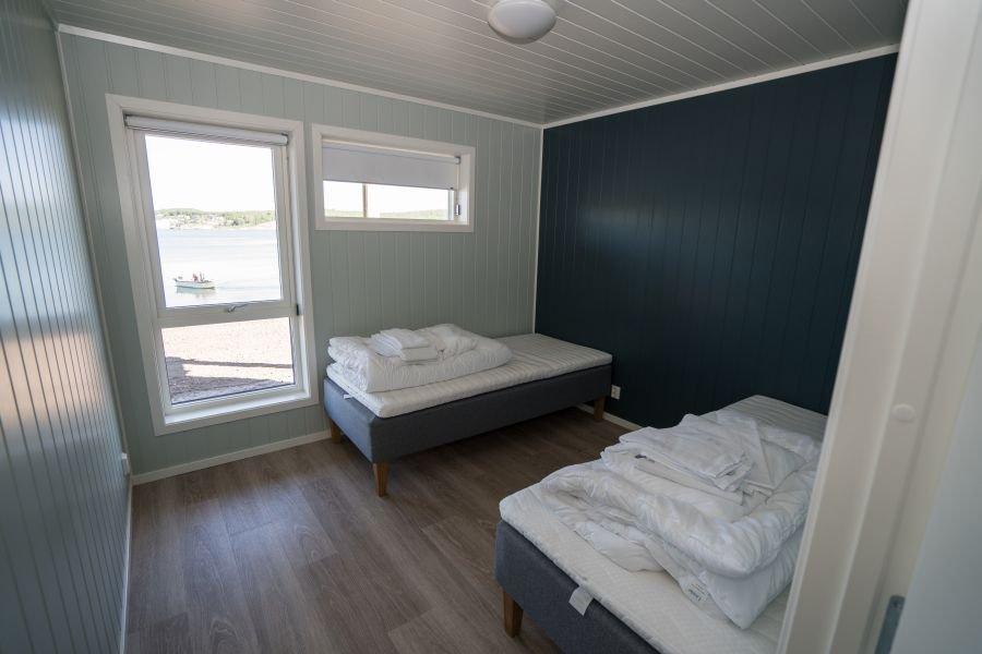Eines der vier Schlafzimmer in Apartment A-H.