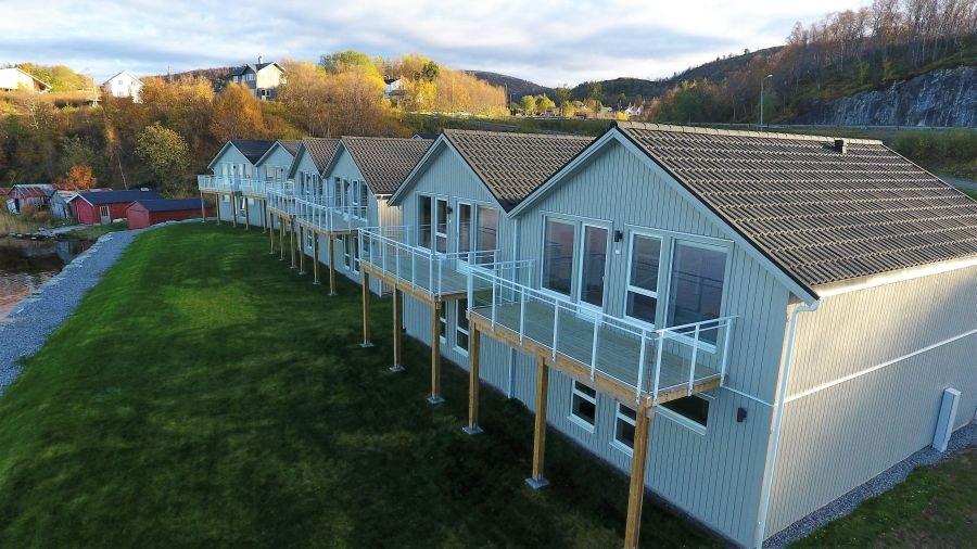 Die neuen Rorbu/Apartments A-H.