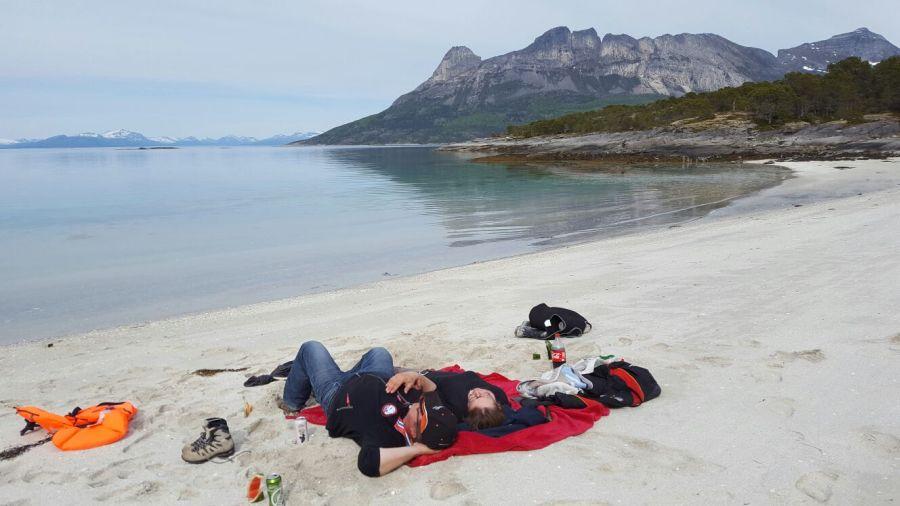 Entspannung pur am weißen Sandstrand.