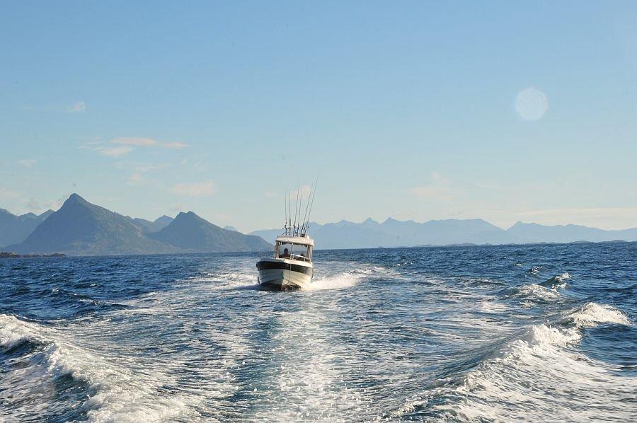 Dolmøy Kabinenboote stehen den Kunden von Lofotbrygga Brettesnes zur Verfügung.