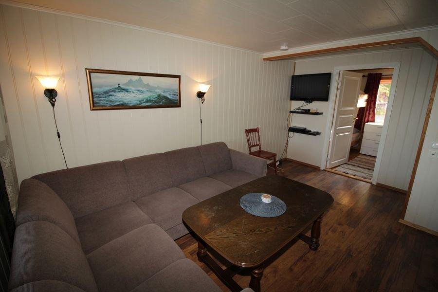 Wohnzimmer im Apartment Lille Molla.