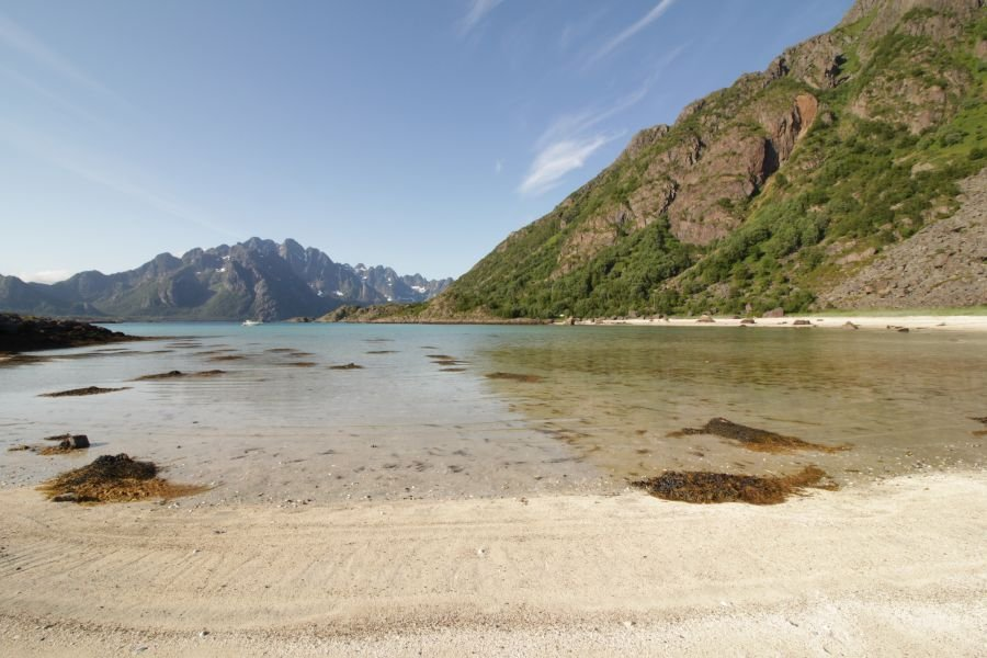 Karibik? Nein, so sieht eine Bucht auf der Insel Store Molla aus.
