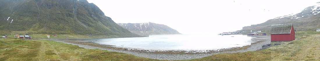 Das Ende des Fjordes bei Akkarvik