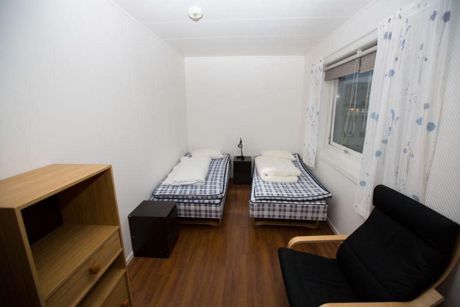 So sehen die Doppelzimmer aus.