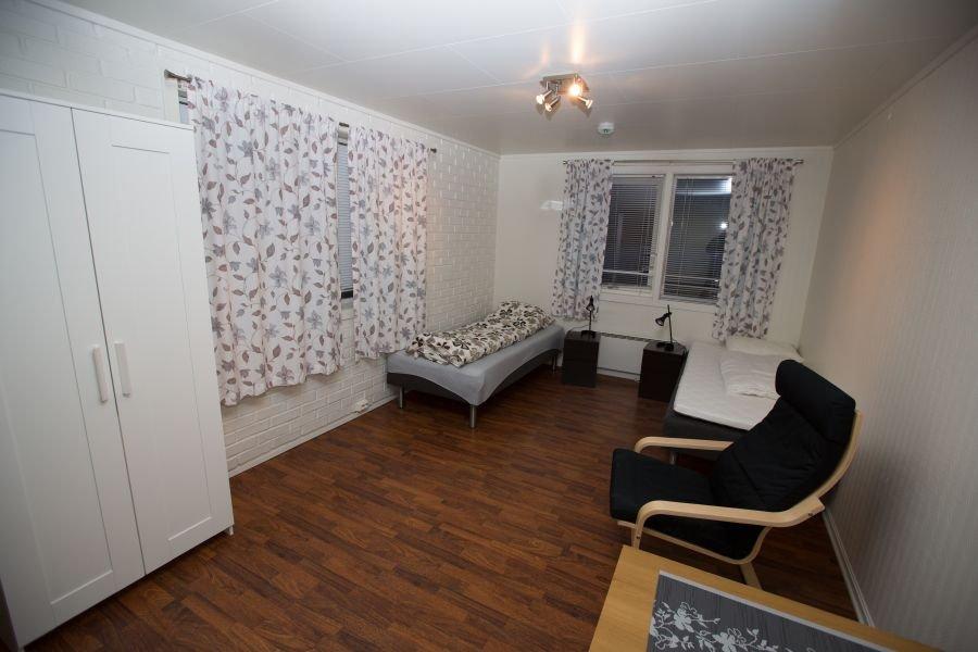 Weiteres Schlafzimmer in einem der Appartments im Havøysund Havfiskesenter.