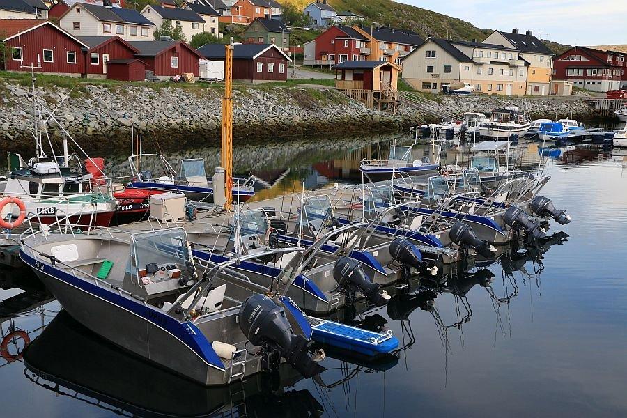 Die imposante Bootsflotte am Kjølleford
