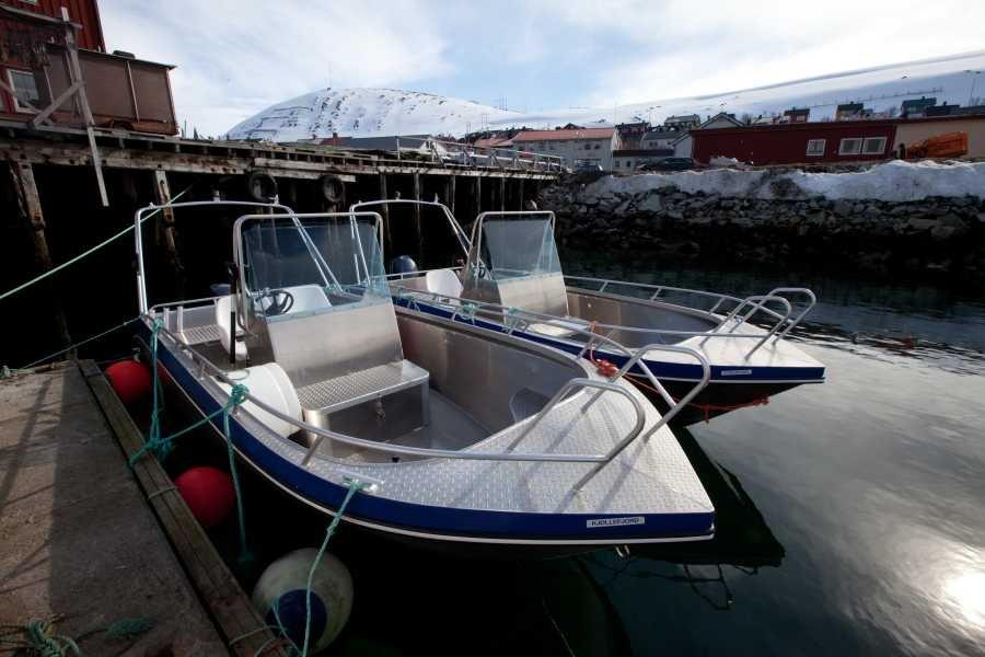 Apartment inklusive eines 19 Fuß langen und 50 PS starken Kværnø Alu-Bootes.