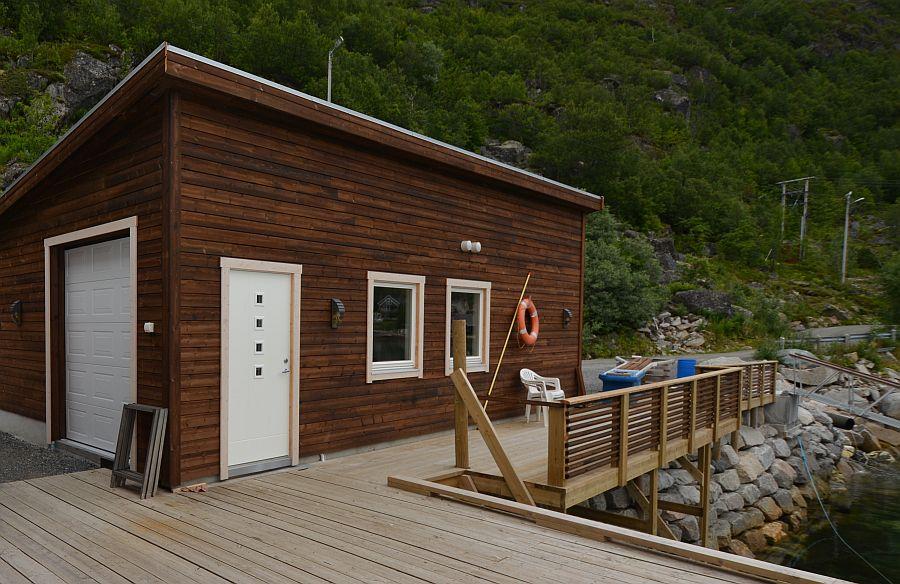 Das Filetierhaus von Ersfjordbotn Brygge.