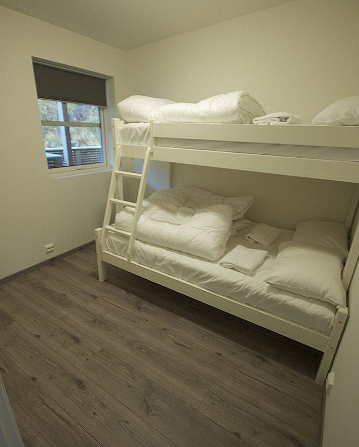 Schlafzimmer mit dem Hochbett.