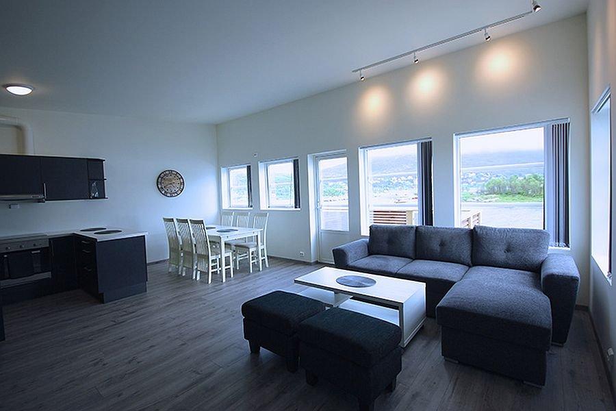 In den Unterkünften von Ersfjordbotn Brygge genießen Sie eine herrliche Aussicht auf den wunderschönen Ersfjord.