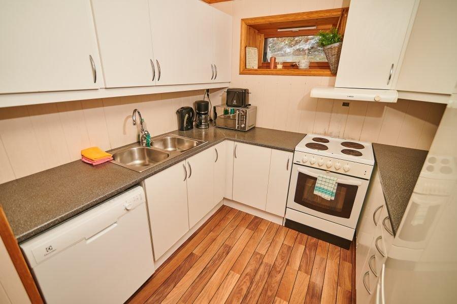 Küche großes Apartment.
