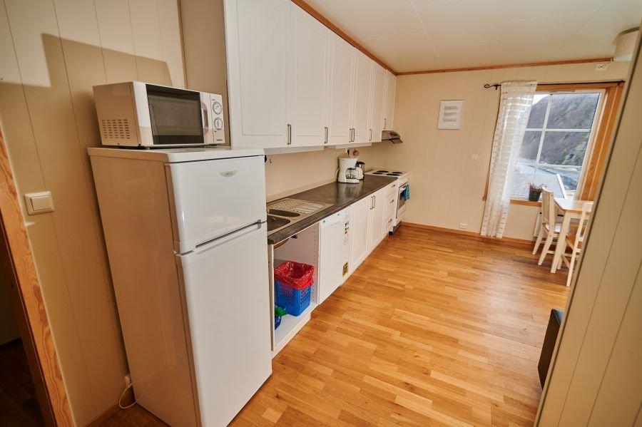 Küche kleines Apartment.