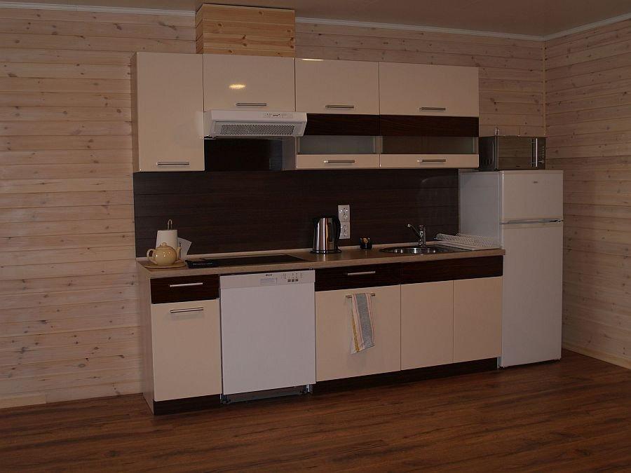 Die voll ausgestattete Küche des Apartments 3.