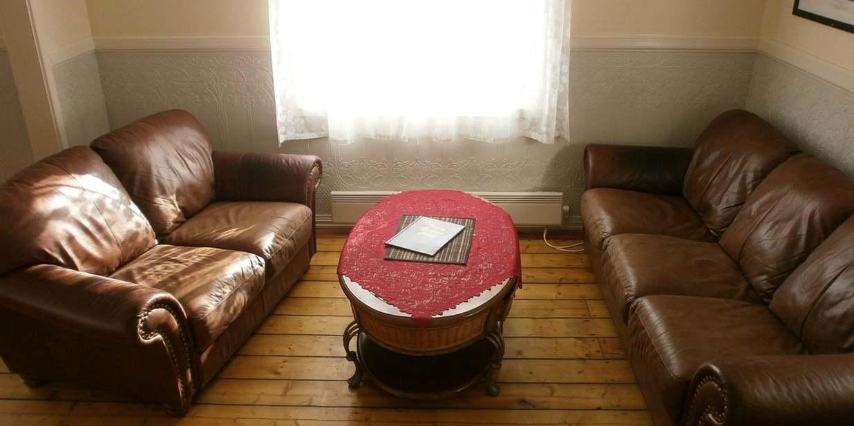 Lounge im Skipperhaus.