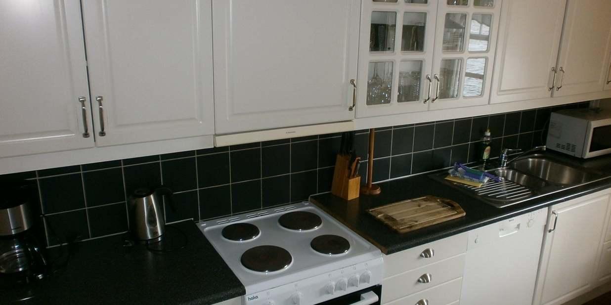 Voll ausgestattete Küche im Skipperhaus.