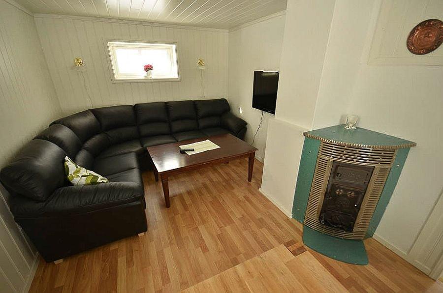 Das Wohnzimmer im Ferienhaus Ingebjørgstua.