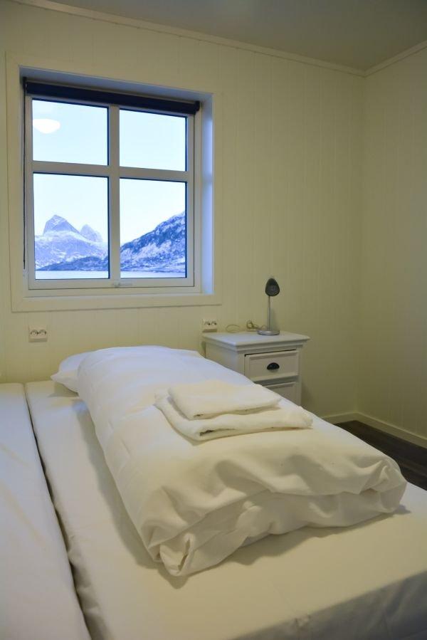 Eines der Schlafzimmer des Northern Lights Apartments.