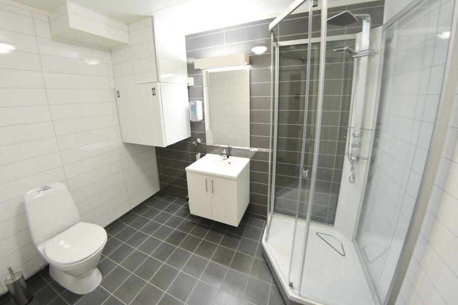 Bad und WC des Northern Lights Apartments.
