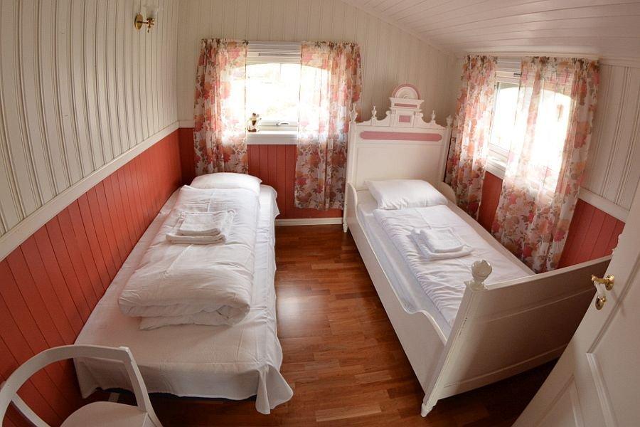Eins der Schlafzimmer von Solbu.