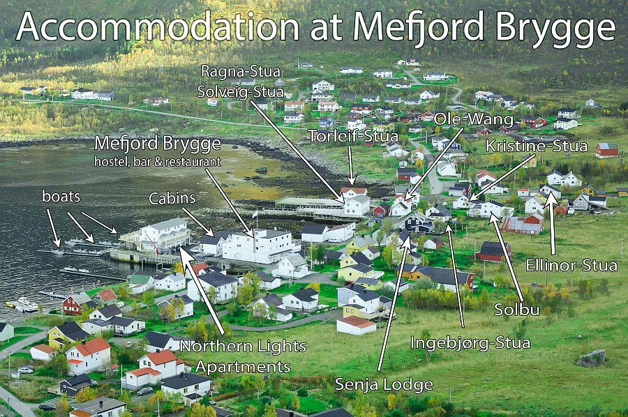 Die Unterkunftsübersicht von Mefjord Brygge.