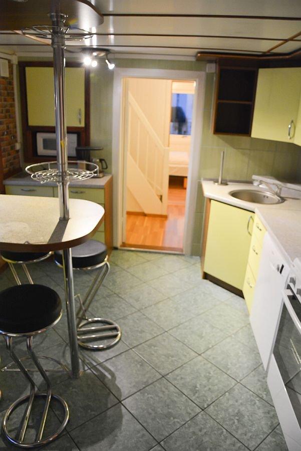 Die Küche im Ferienhaus Kristinestua.